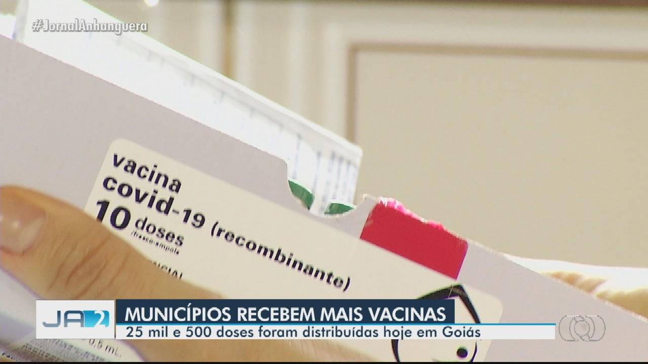 Municípios recebem mais doses da vacina em Goiás