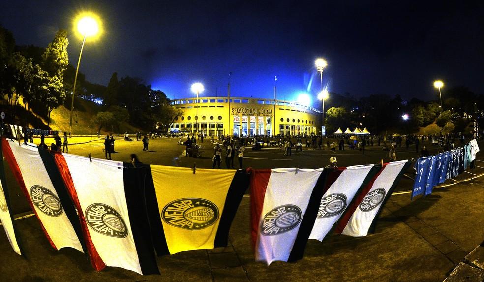 Palmeiras recebe o Corinthians no Pacaembu neste sábado — Foto: Marcos Ribolli