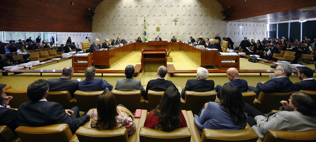 Plenário do STF deve analisar em novembro o mérito do recurso apresentado pela defesa do senador Flávio Bolsonaro — Foto: Rosinei Coutinho/SCO/STF