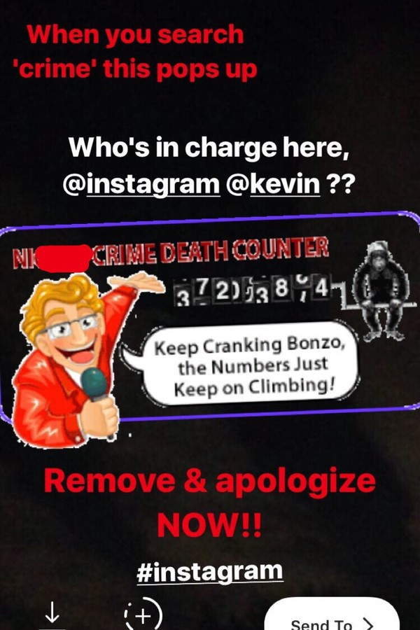 Após gif racista, Instagram exclui serviço (Foto: Reprodução/Instagram)