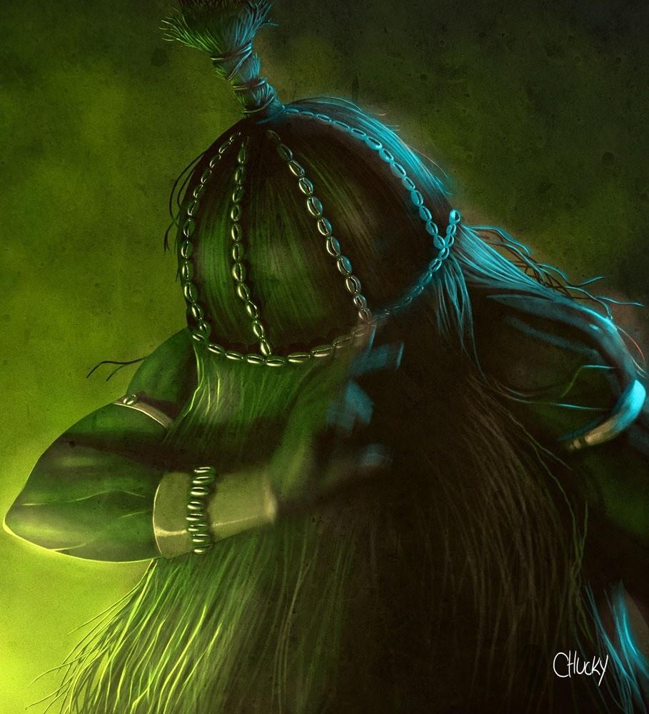 Omulu - Ilustração de Ricardo Chucky