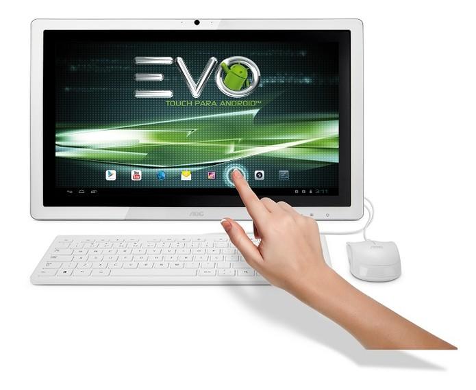 Modelo com 21,5 possui tela touchscreen (Foto: Divulgação/AOC)