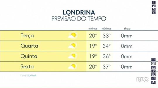 Londrina terá tempo firme nesta terça-feira (22)