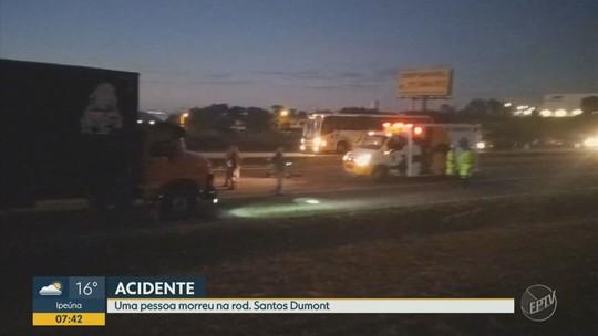 Acidente com carro, moto e pedestre termina com duas mortes na Rodovia Santos Dumont em Indaiatuba