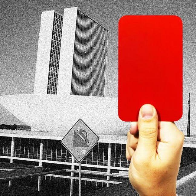 Cartão vermelho Congresso Nacional (Foto: Arte: Antonio Lucena )