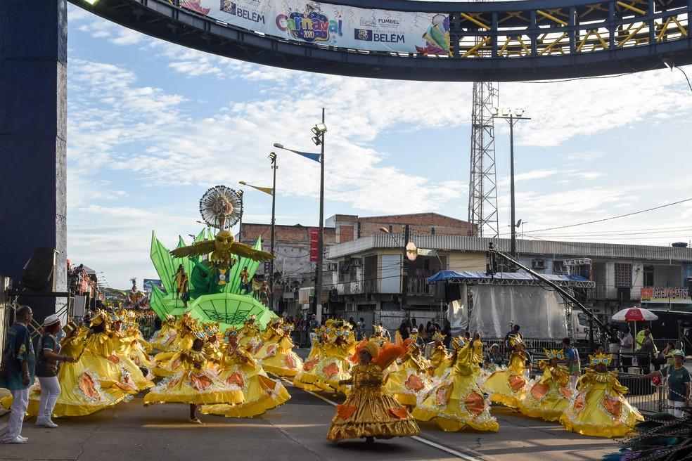 Escola de Samba da Matinha Carnaval de Belém 2020 — Foto: Fernando Sette/Comus