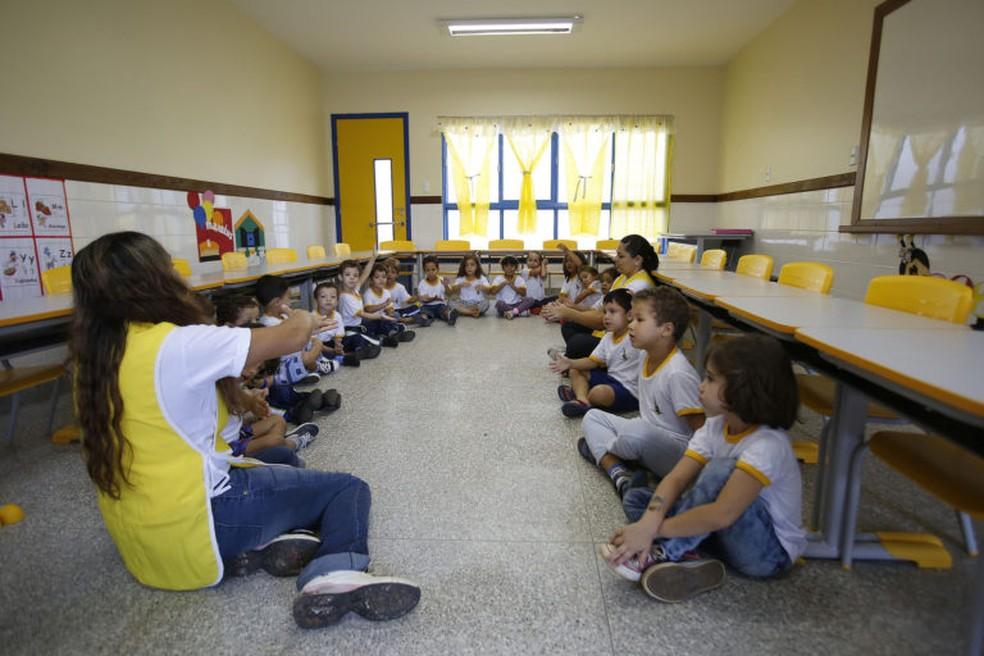 Creche Jequitibá, conveniada à rede pública de ensino do Distrito Federal — Foto: Vladimir Luz/SEEDF/Divulgação