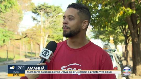 Moradores do bairro Estrela Dalva, em BH, recebem o 'Viva a Rua'