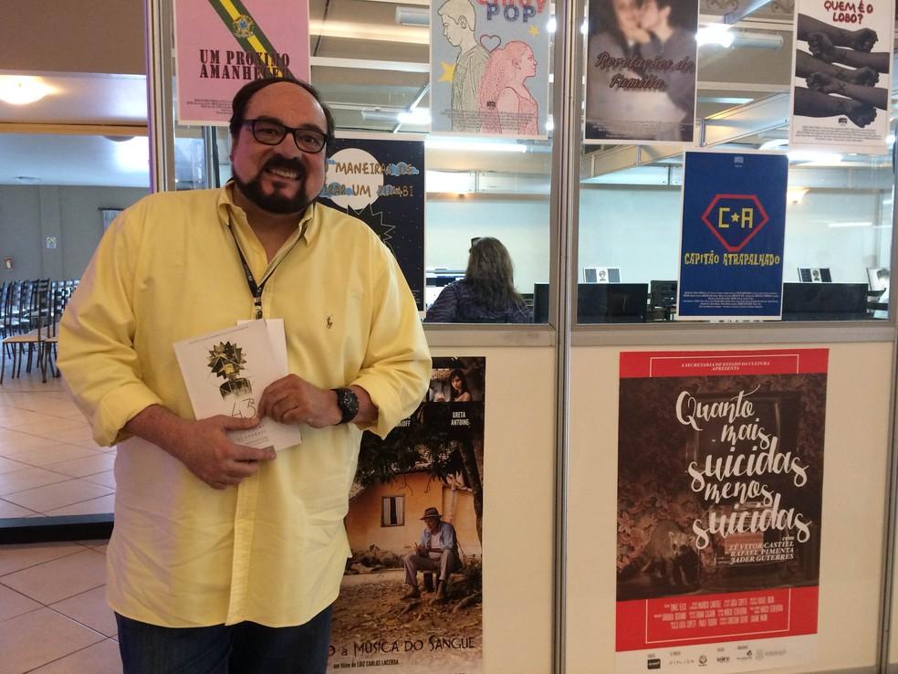 Rubens Ewald Filho no 43º Festival de Cinema de Gramado — Foto: Paula Menezes/ G1 RS