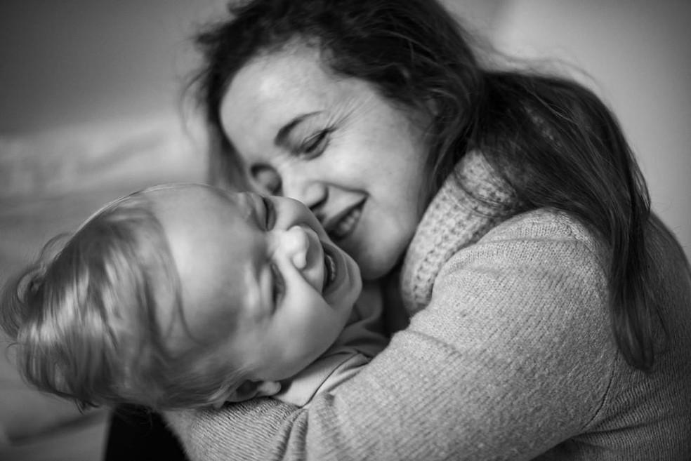 Morgana e a pequena Alice — Foto: Reprodução/Instagram
