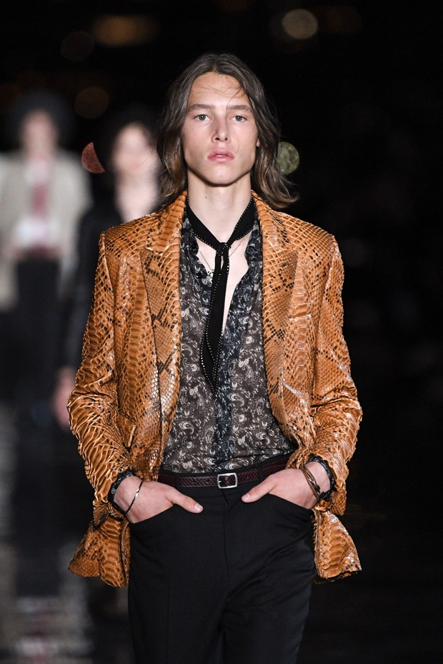 Desfile Saint Laurent em Nova York (Foto: Getty Images)