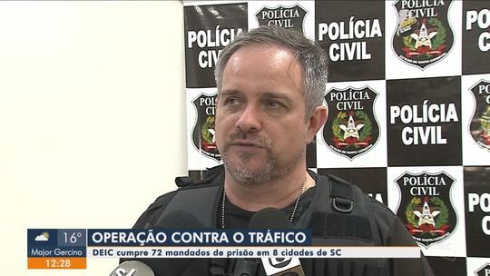 Polícia Civil faz operação contra organizações criminosas em 8 cidades de SC