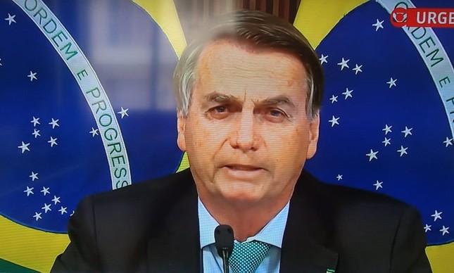 Bolsonaro discursa na Cúpula do Clima