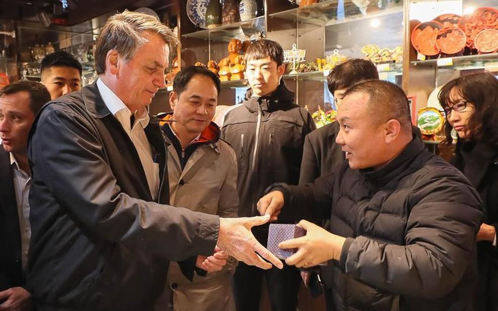 Bolsonaro na China — Foto: Isac Nóbrega/PR