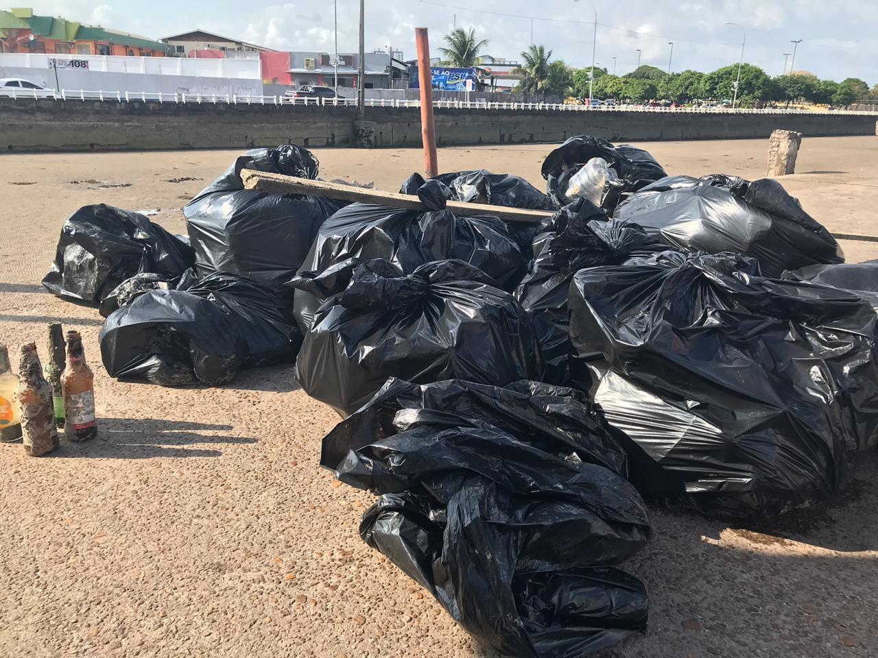 Dia Mundial da Limpeza reúne cerca de 100 voluntários em mutirão na orla de Macapá - Notícias - Plantão Diário