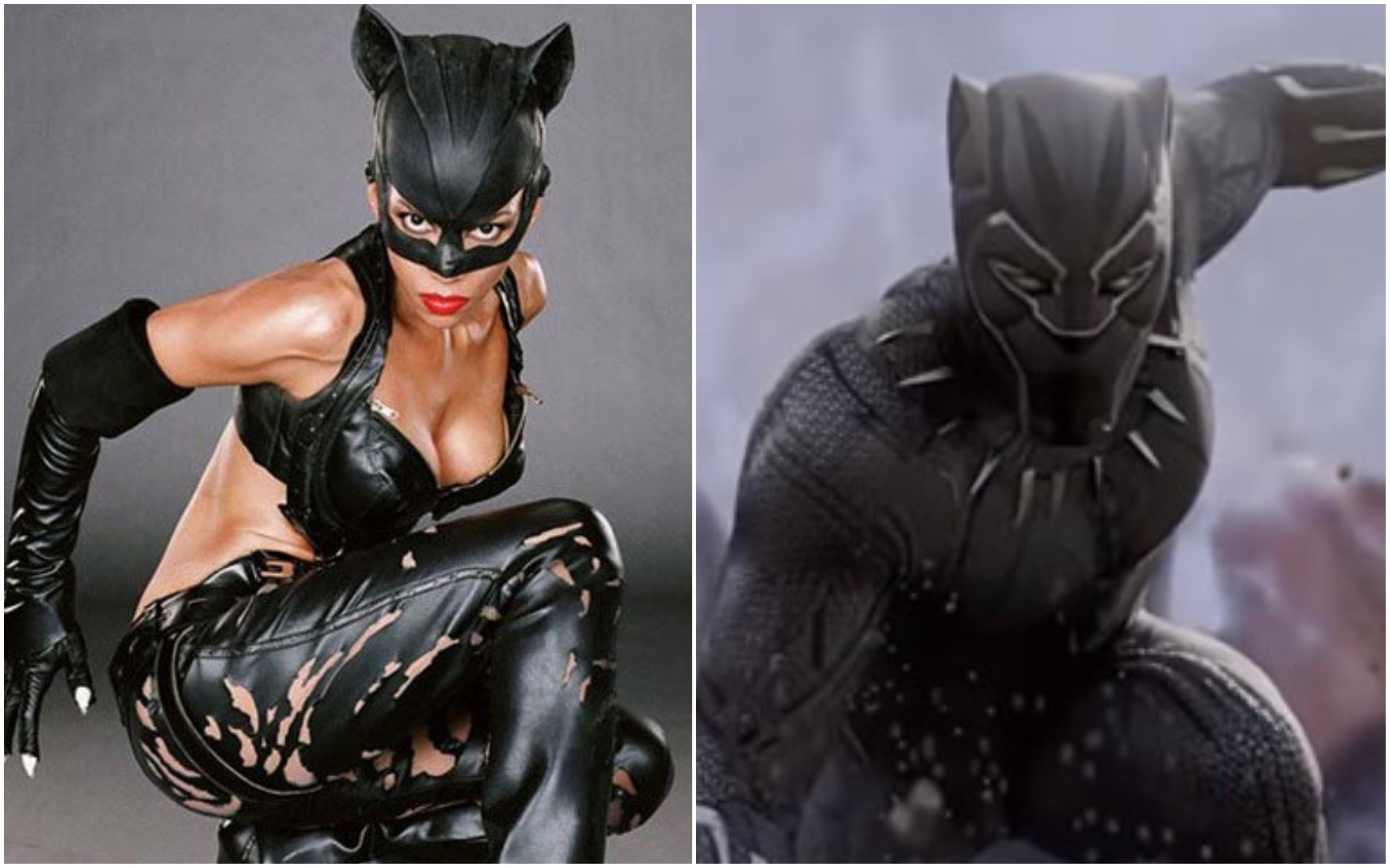 Mulher-Gato / Pantera Negra (Foto: Divulgação)