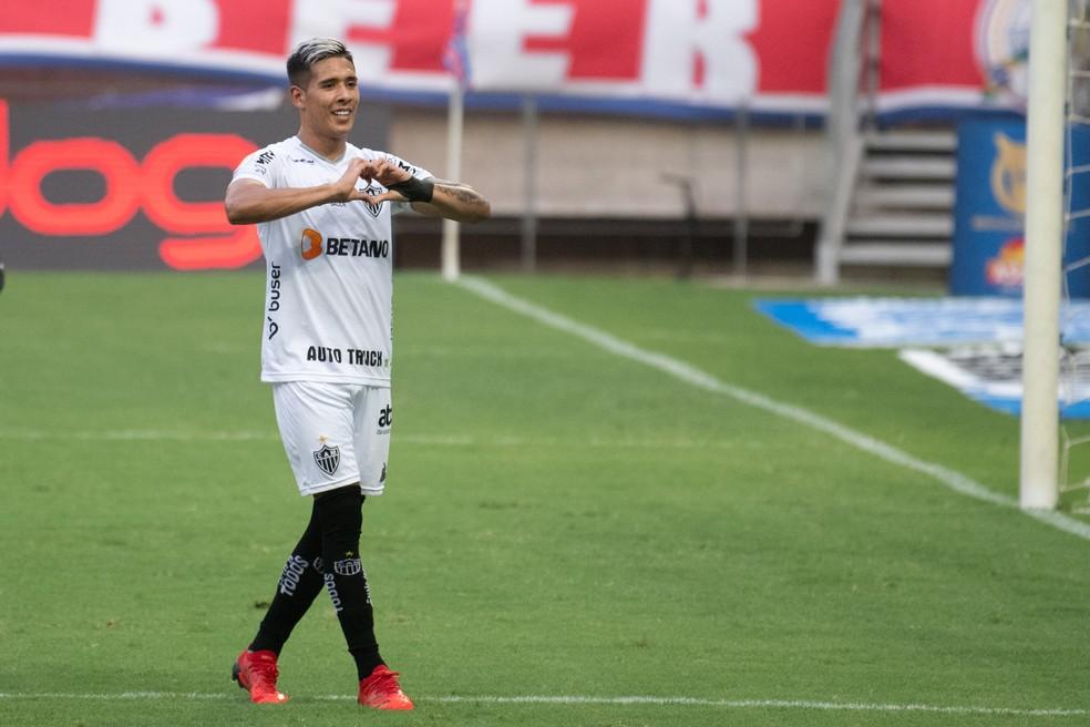 Zaracho, Atlético-MG  — Foto: Kely Pereira/AGIF