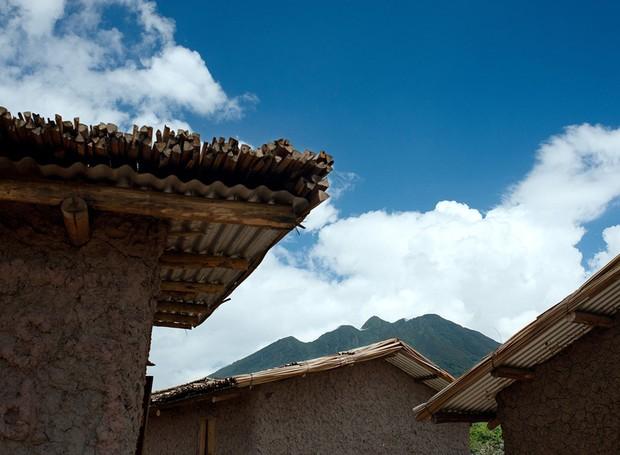 O telhado é feito de bambu e eucalipto (Foto: Will Boase Photography e Craig Howes/ Reprodução)