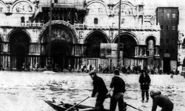 Veneza sofreu novamente com as águas em 30 de outubro de 1976