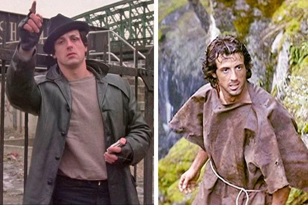 Sylvester Stallone em 'Rocky' e 'Rambo' (Foto: Reprodução)