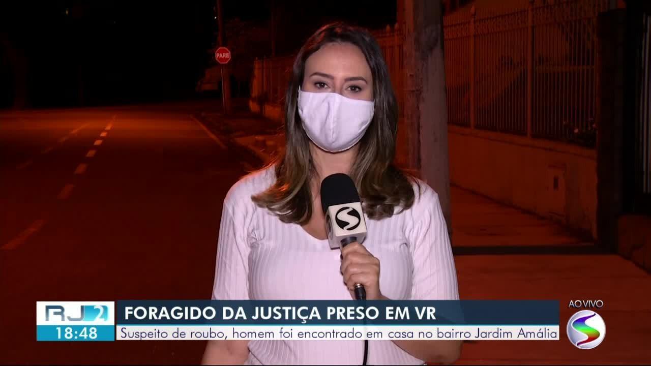 Preso foragido da Justiça por roubo em Volta Redonda