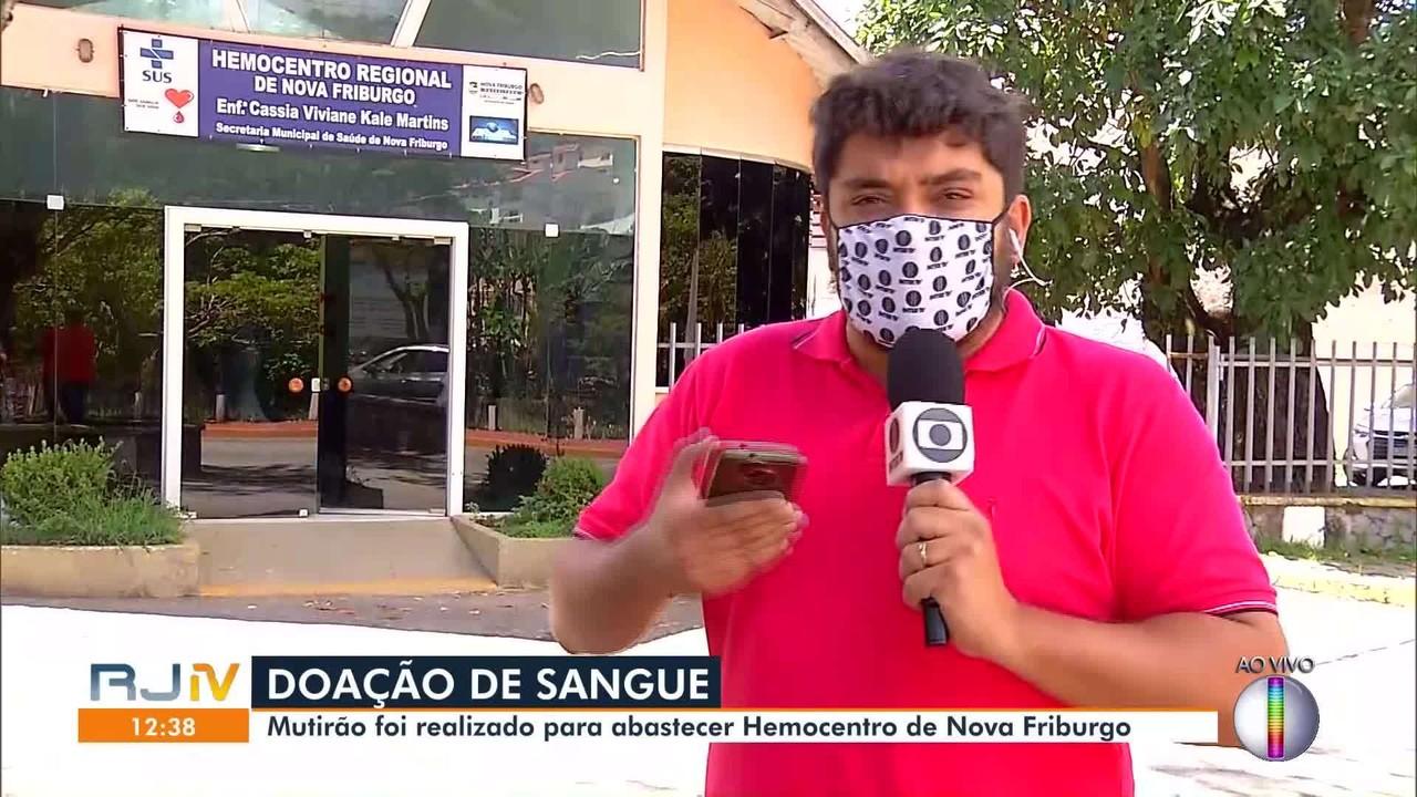 Hemocentro de Nova Friburgo, RJ, realiza mutirão neste sábado (28)