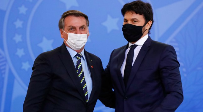 Bolsonaro e Fábio Faria