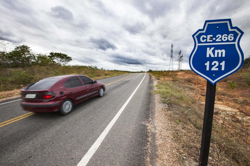 Algumas estradas do Ceará estão com trechos em obras (Foto: Governo do Estado/Divulgação)