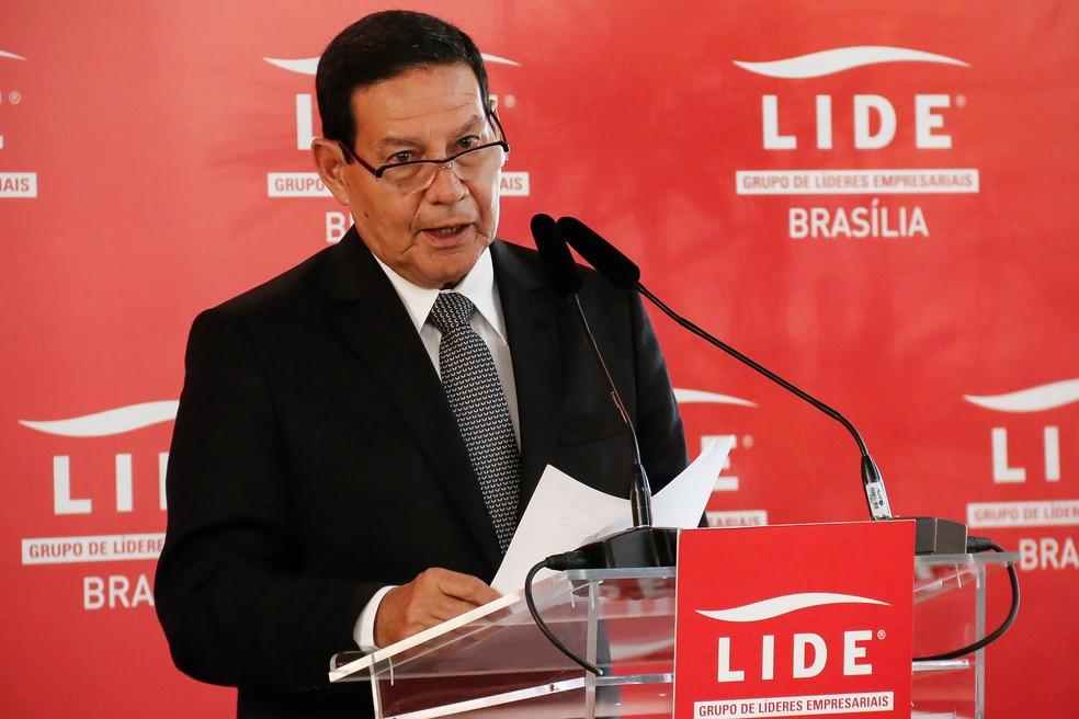 O vice-presidente Hamilton Mourão — Foto: Adnilton Farias/PR