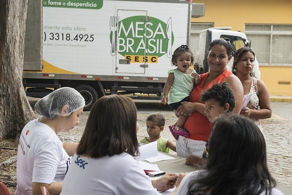 A doação atende a familias de baixa renda de todo o estado.  (Foto: Jr. Panela/Fecomércio)