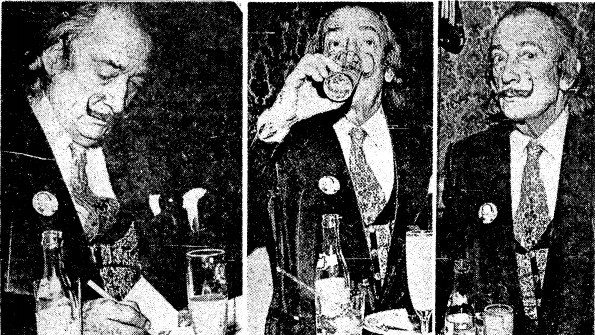 Fotos da Dali publicadas junto com depoimento, no GLOBO de 18.03.1973