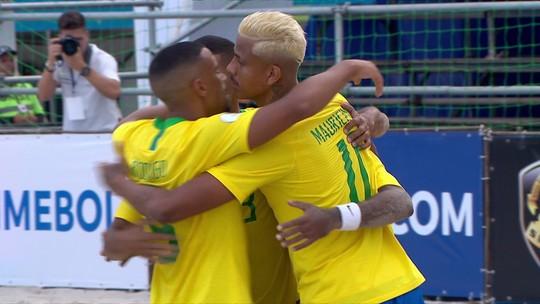 Brasil goleia a Colômbia e segue líder do grupo nas eliminatórias da Copa do Mundo de futebol de areia