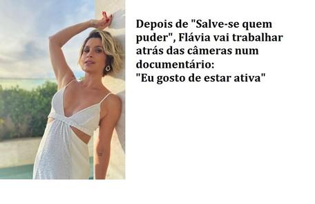 Flávia vai tocar novo projeto na agência que tem com Otaviano Costa Reprodução
