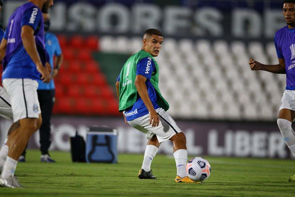 Lateral-direito Felipe fez sua estreia na Libertadores às pressas — Foto: Lucas Uebel/Grêmio