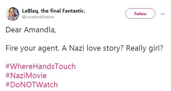 Tweet sobre Where Hands Touch (Foto: Reprodução / Twitter)