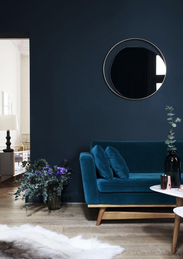 Tendência de cores: sala de estar ganha tons marcantes (Foto: Divulgação)