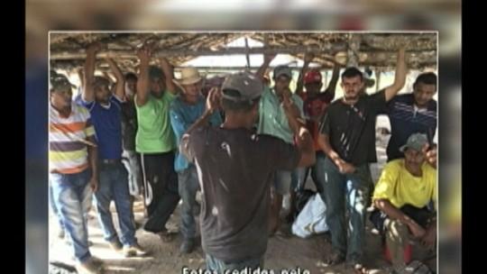 Polícia realiza reintegração de posse em fazenda em Canaã dos Carajás, no sudeste do Pará