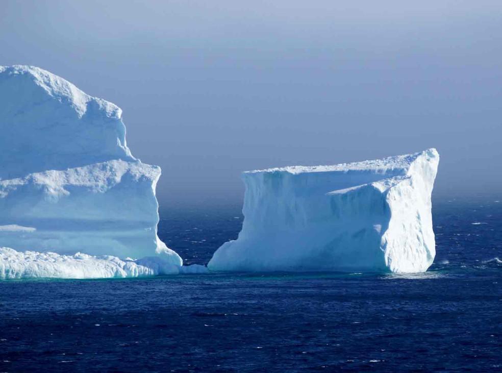 Iceberg gigante na Antártica está se movendo mais rapidamente e causando espanto em cientistas. — Foto: Jody Martin/Reuters