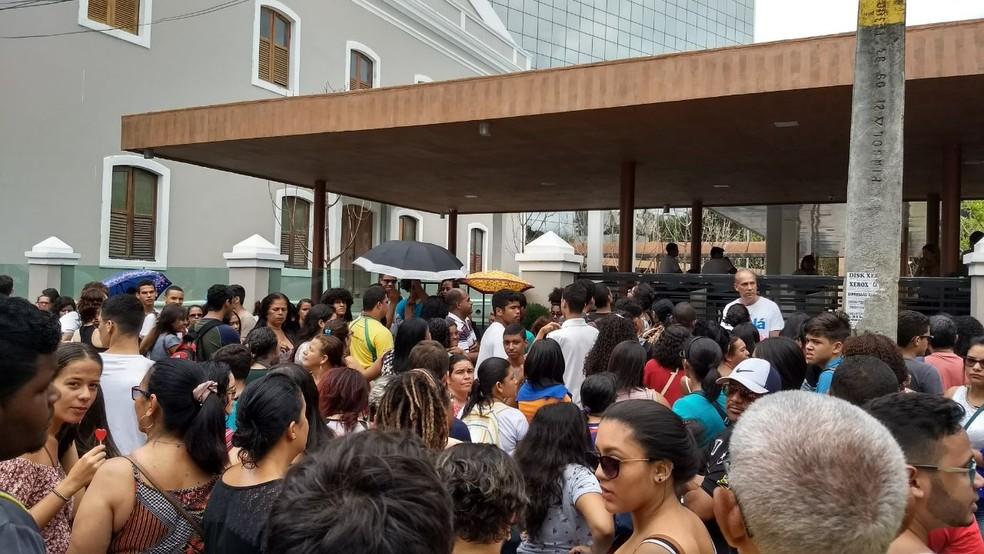 Em Pernambuco, mais de 259 mil candidatos fizeram provas do Enem neste domingo (12) (Foto: Wanessa Andrade/GloboNews)