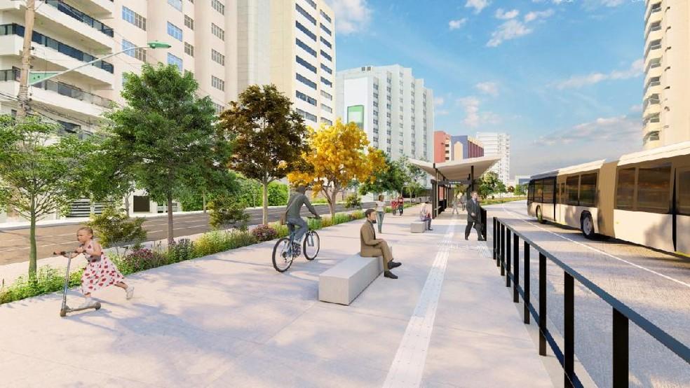 Projeto do BRT abrange áreas centrais de Cuiabá e Várzea Grande, diz governo — Foto: Governo de Mato Grosso