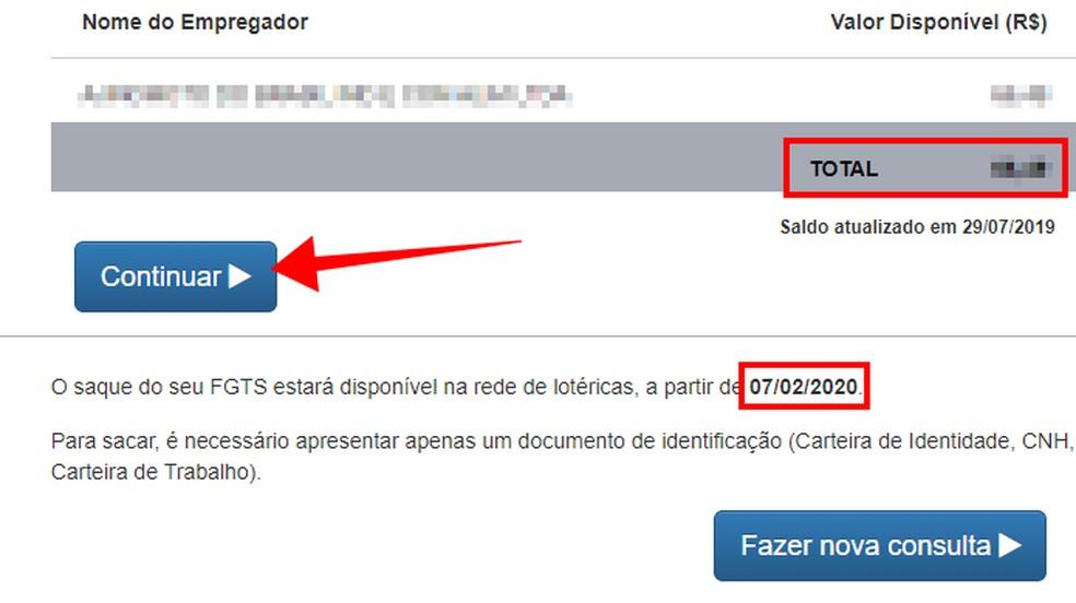 Confira o saldo para saque a data de liberação — Foto: Reprodução/Paulo Alves