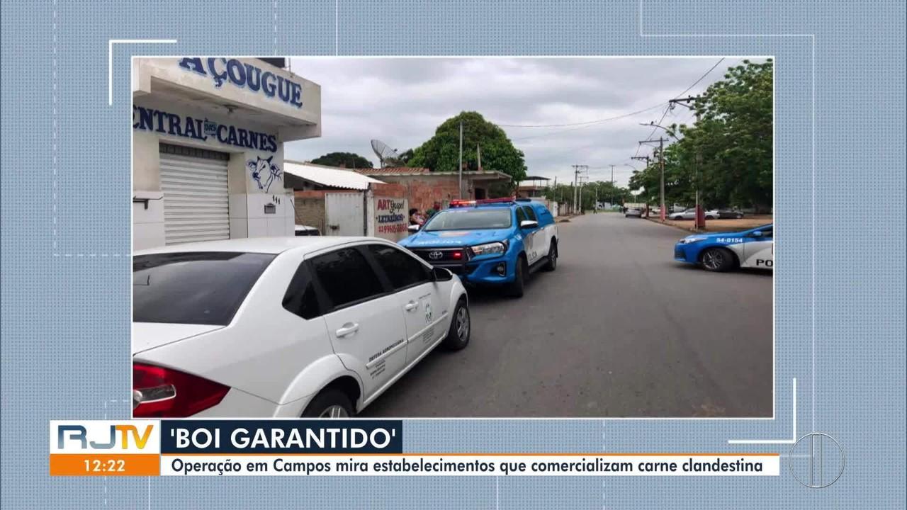 Operação em Campos, RJ, mira estabelecimentos que comercializam carne clandestina