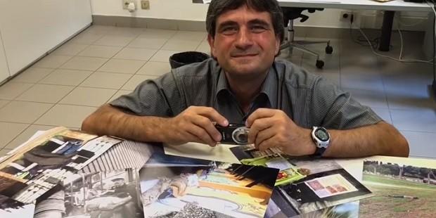Daniele Ciarlantini, ex-morador de rua que vai poder documentar em Roma as atividades da Ronda della Solidarietà  (Foto: Reprodução Youtube/ Vaticano News)
