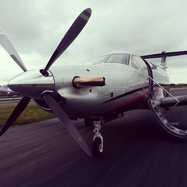 Avião de Gustav Magnar Witzøe (Foto: Reprodução/Instagram)