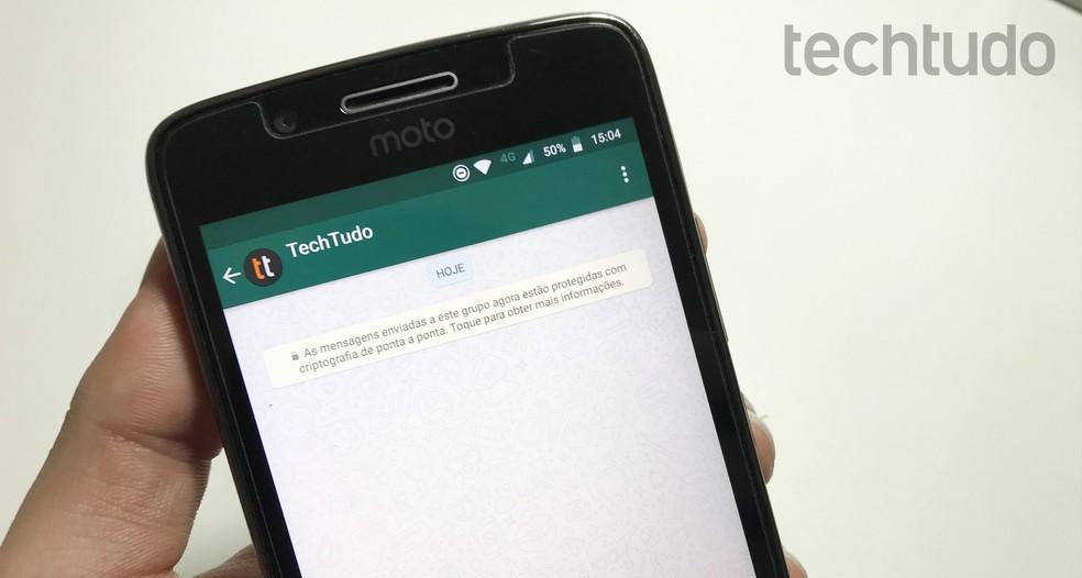 WhatsApp ganhou novos recursos úteis em 2019 — Foto: Rodrigo Fernandes/TechTudo