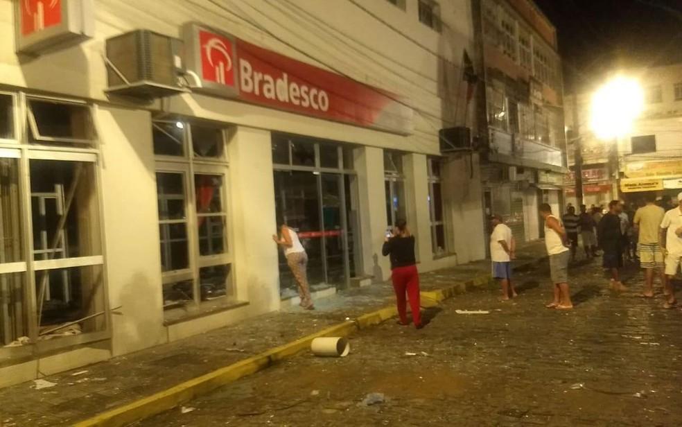 Agência foi atacada por bandidos na Bahia — Foto: 21ª Coorpin de Itapetinga