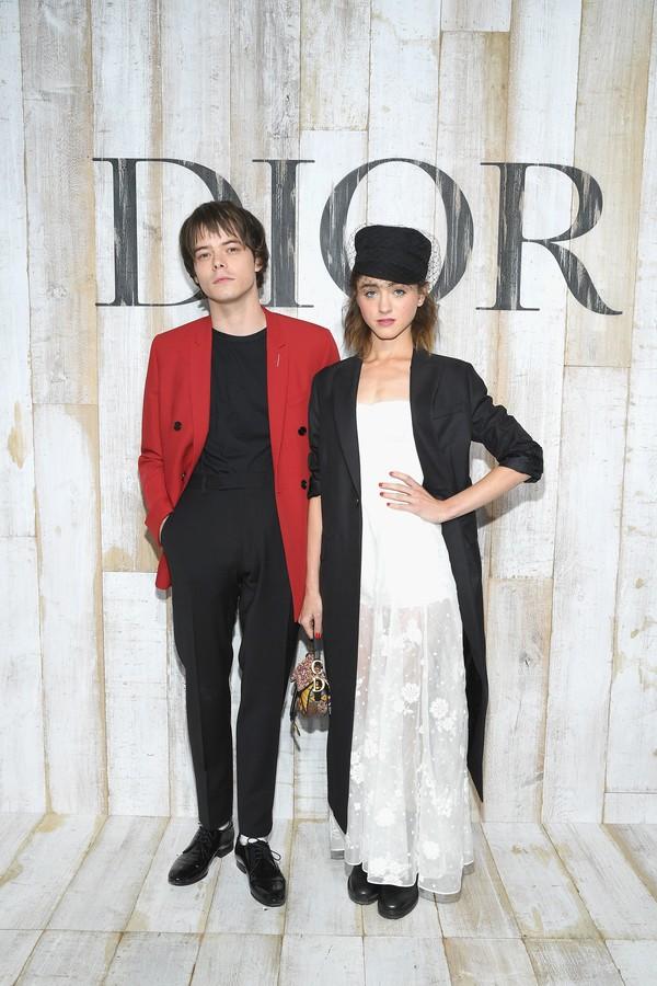 "Natalia Dyer e Charlie Heaton, de ""Stranger Things"" (Foto: Getty Images)"