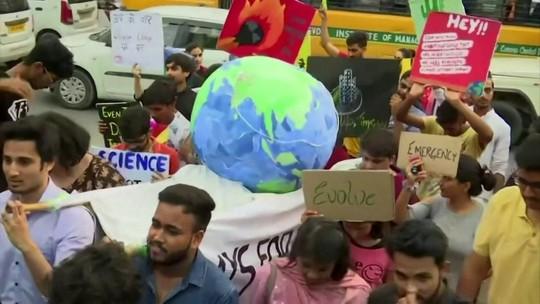 Milhares protestam em 150 países contra as mudanças climáticas