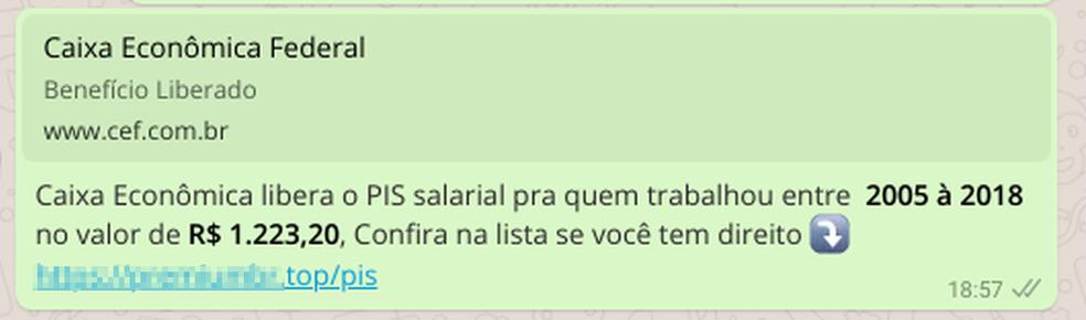 Link redireciona o usuário para página fraudulenta (Foto: Divulgação/DFNDR Lab)