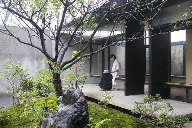 Casa de chá em Xangai é perfeita para meditar e apreciar a natureza (Foto: Divulgação)